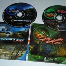 Master Rallye / Aquanox - Retro Windows PC Video Game 2 CD-ROM Discs Combo Pack