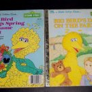 2 Sesame Street Little Golden Books, Big Bird's Day On The Farm Brings Spring To
