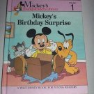 Mickey's Birthday Surprise (1990, Hardcover) Disney Young Reader's Library Vol 1