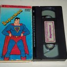 SUPERMAN (VHS Video Tape, 1980) Vintage Children's Classical Cartoons 4 Episodes