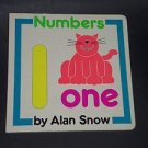 Numbers, Alan Snow 1991 Hardcover, Illustrated Educational Children's Board Book