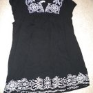 one clothing black no sz so a Large dress/Top?   white stitching
