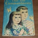 The Ten Commandments by Rand McNally 1955 Vintage Christian Kids Children's Book
