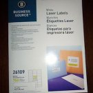 Pack of 750 Business Source White Laser Printer Address Labels 30 Per Page 26109