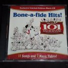 DISNEY 101 Dalmatians BONE-A-FIDE HITS Limited Edition Enhanced Music CD + Video