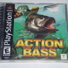 Action Bass (Sony PlayStation 1, 2000) Original PS1 Black Label Fishing Game