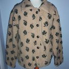 Straight Down Clothing Co, Brown Fuzzy Fleece Jacket Coat, Women's Size Medium M