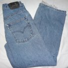 Levi's Vintage Silver Tab Baggy Fit Ladies Denim Blue Jeans, Girls Size 14 Youth