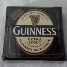 Guinness Beer Logo Official Merchandise Set Of 6 Cork Backed Drink Coasters NEW