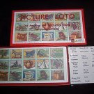 PICTURE LOTO Children's Educational Bingo Match-Up Game in English & French NEW