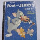 Little Golden Book: MGM's Tom And Jerry's Party Vintage 1982 Children's Cartoon