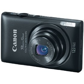Canon PowerShot ELPH 300 HS 12.1 MP Digital Camera (Black)