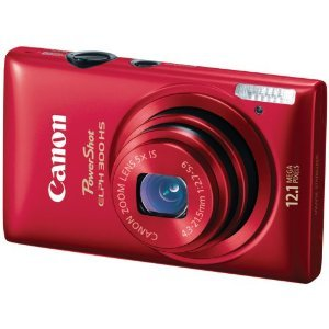 Canon PowerShot ELPH 300 HS 12.1 MP Digital Camera (Red)