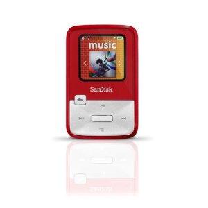 SanDisk Sansa Clip Zip 4 GB Digital player / radio - Red