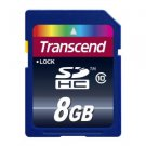 Transcend 8 GB SDHC Class 10 Flash Memory Card TS8GSDHC10