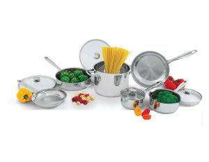 Wolfgang Puck 10 Piece Stainless-Steel Cookware