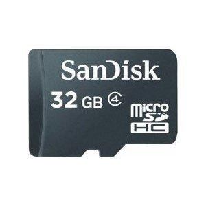SanDisk Flash memory card - 32 GB microSDHC - 1 x microSDHC - Black