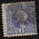SC 115 Used 1869 6c Washington SCV=$240.00