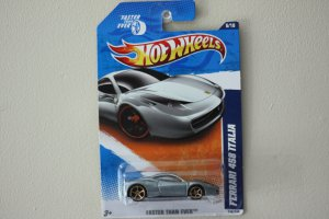 Hot Wheels 2011 Faster Than Ever Ferrari 458 Italia (silver)