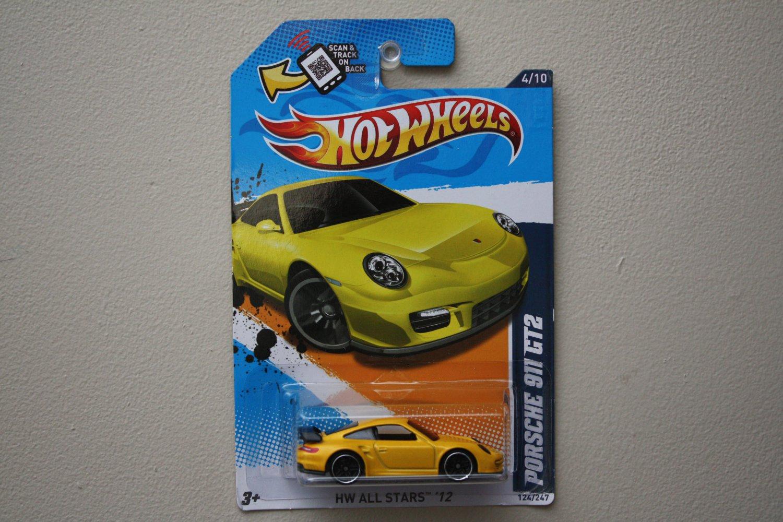 hot wheels 2012 hw all stars porsche 911 gt2 yellow walmart excl. Black Bedroom Furniture Sets. Home Design Ideas
