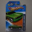 Hot Wheels 2012 Heat Fleet Dodge Challenger Concept (green - Walmart Excl Redline)