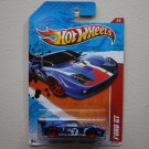 Hot Wheels 2011 Thrill Racers Raceway Ford GT (blue)