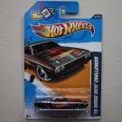 Hot Wheels 2012 HW Racing '70 Dodge HEMI Challenger (black - Walmart Excl.)