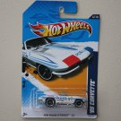 Hot Wheels 2012 HW Main Street '65 Corvette (white)