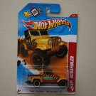 Hot Wheels 2012 Thrill Racers Prehistoric Jeep Scrambler (yellow)