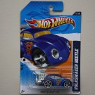 Hot Wheels 2012 Heat Fleet Volkswagen Beetle (blue) (metal tail pipe variation)
