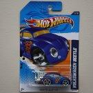 Hot Wheels 2012 Heat Fleet Volkswagen Beetle (blue) (metal tail pipe variation)