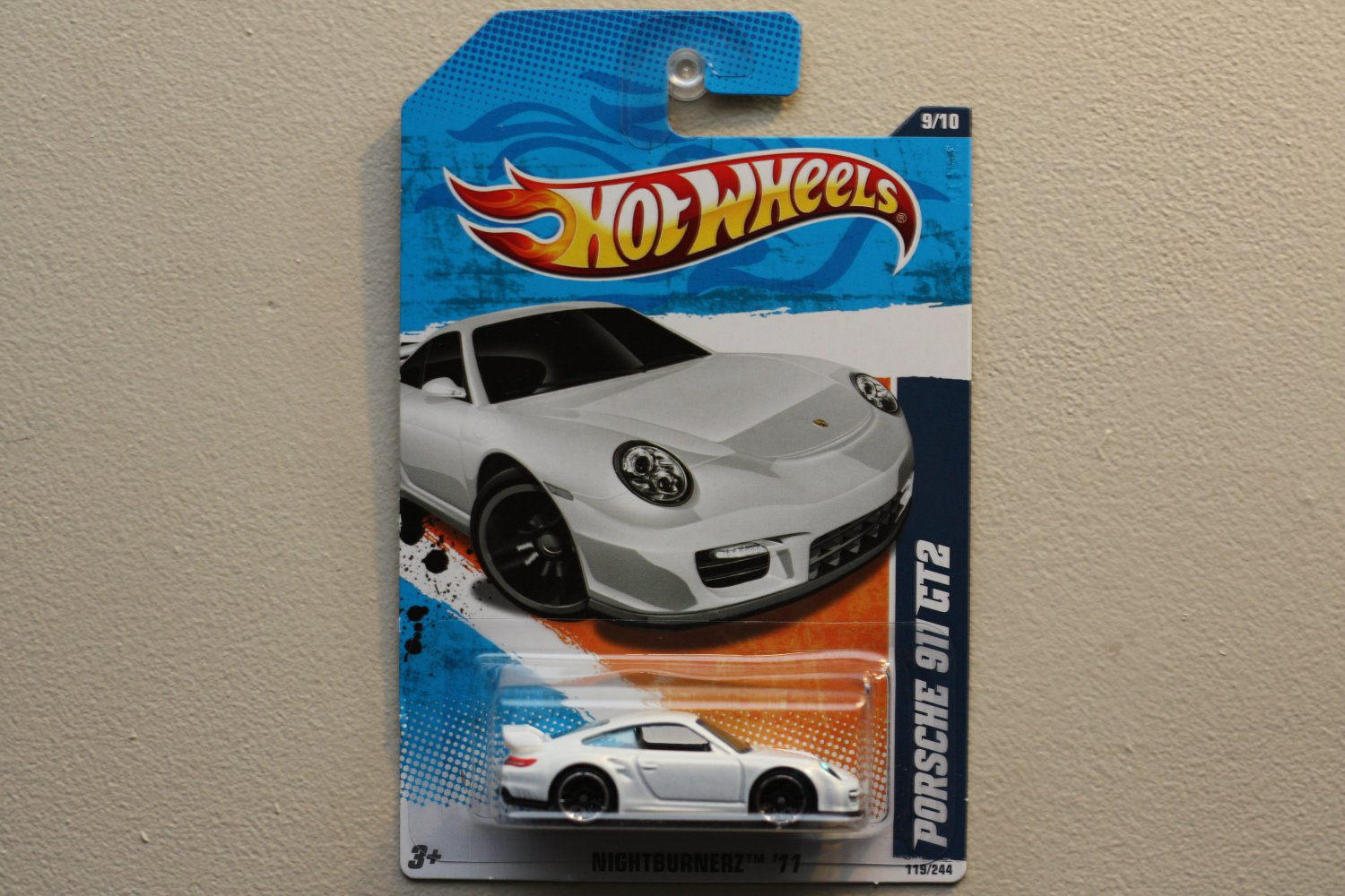 hot wheels 2011 nightburnerz porsche 911 gt2 white. Black Bedroom Furniture Sets. Home Design Ideas