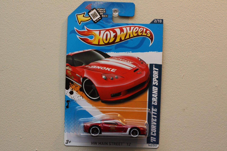 Hot Wheels 2012 HW Main Street '11 Corvette Grand Sport (red)