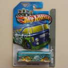 Hot Wheels 2013 HW City Surfin' School Bus (Surf's Up Bus) (blue) (see condition)