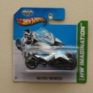 Hot Wheels 2013 HW Imagination Max Steel Motorcycle (white)