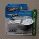 Hot Wheels 2013 HW Imagination Star Trek U.S.S. Enterprise NC-1701 (white w/ battle scars damage)