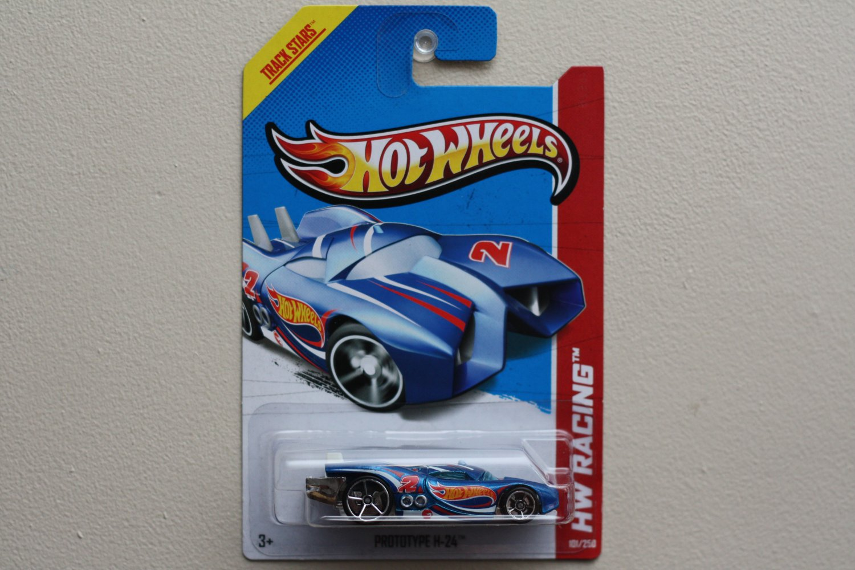 Hot Wheels 2013 HW Racing Prototype H-24 (blue) Treasure Hunt (see condition)
