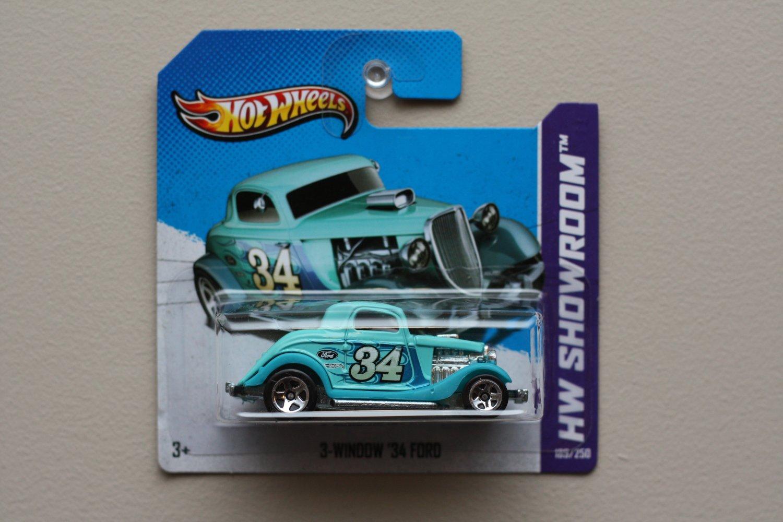 Hot Wheels 2013 HW Showroom 3-Window '34 Ford (turquoise)