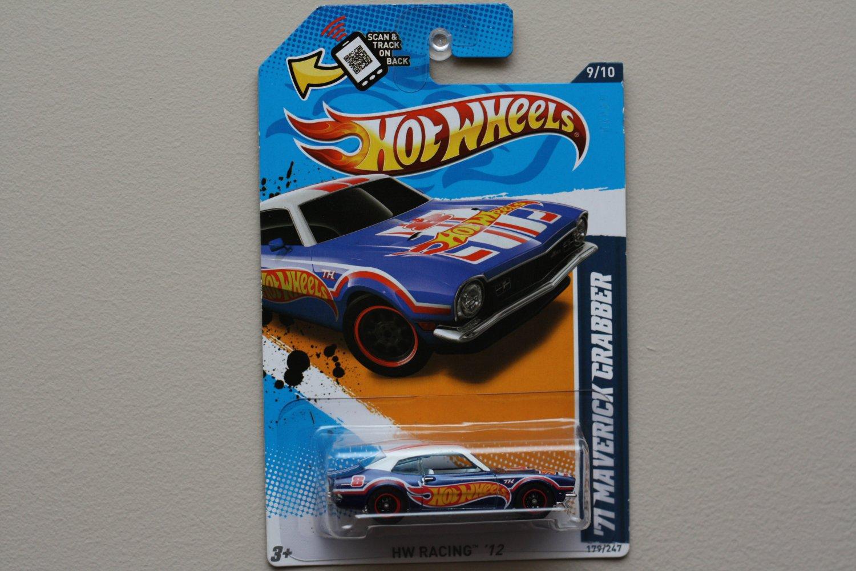 Hot Wheels 2012 HW Racing '71 Maverick Grabber (blue) Super Treasure Hunt (see condition)