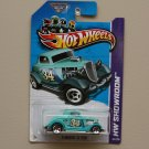 Hot Wheels 2013 HW Showroom 3-Window '34 Ford (turquoise) (SEE CONDITION)