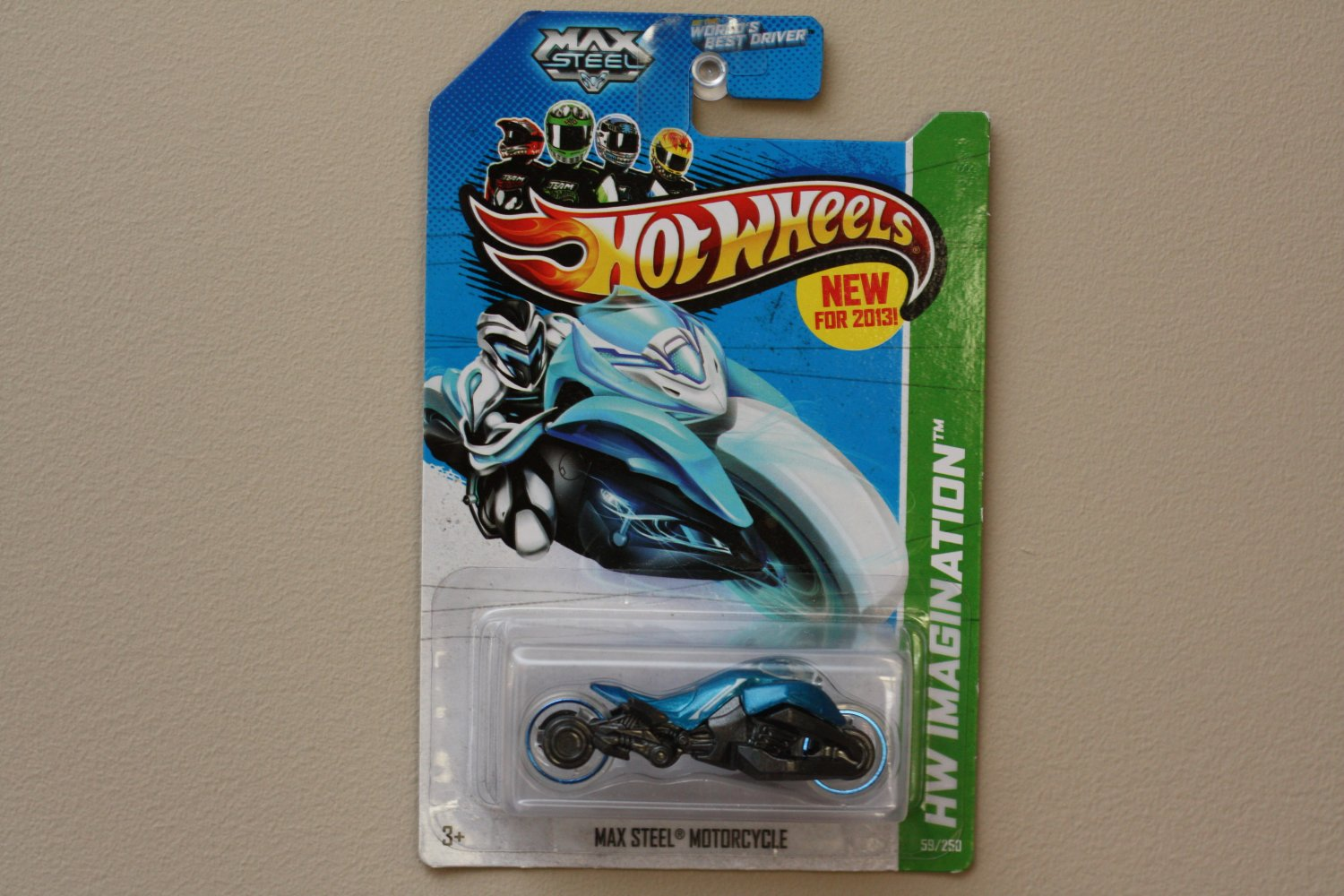Hot Wheels 2013 HW Imagination Max Steel Motorcycle (blue)