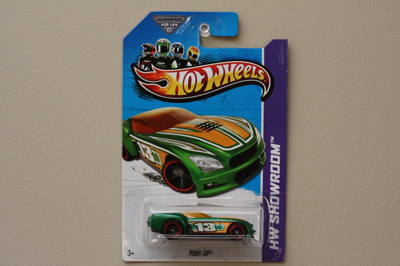 Hot Wheels 2013 HW Showroom Pony-Up (green) (KROGER SCAVENGER HUNT)