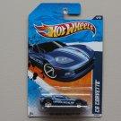 Hot Wheels 2011 HW Main Street C6 Corvette (blue)
