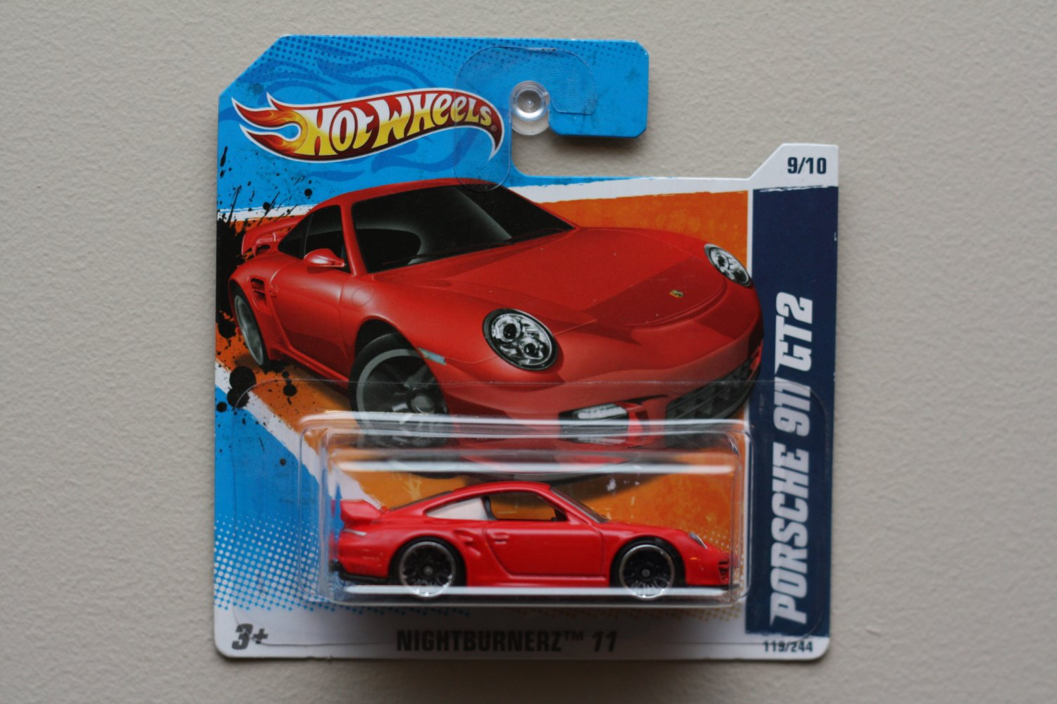 hot wheels 2011 nightburnerz porsche 911 gt2 red. Black Bedroom Furniture Sets. Home Design Ideas