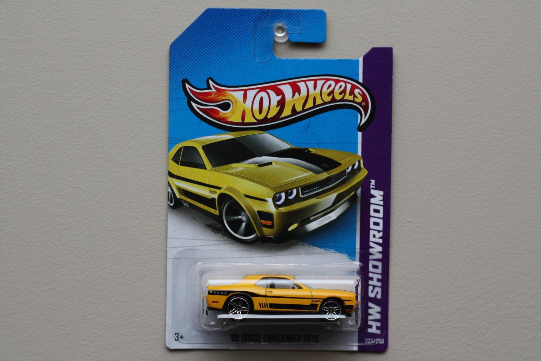 Hot Wheels 2013 HW Showroom '08 Dodge Challenger SRT8 (yellow w/ rare PR5 wheels)