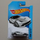 Hot Wheels 2014 HW City Ferrari F12 Berlinetta (silver)