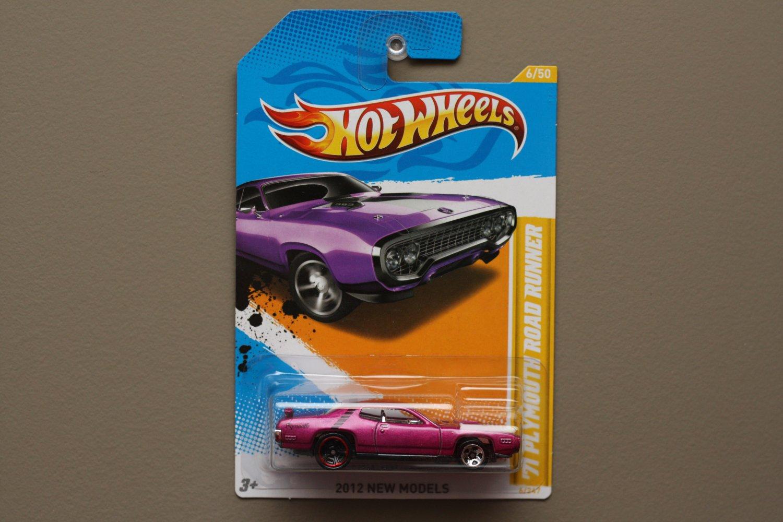 [WHEEL ERROR] Hot Wheels 2012 New Models '71 Plymouth Road Runner (purple)