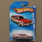 Hot Wheels 2010 HW City Works Custom '66 GTO Wagon (red)