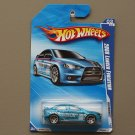 Hot Wheels 2010 Nightburnerz 2008 Mitsubishi Lancer Evolution (blue)