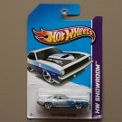 Hot Wheels 2013 HW Showroom '70 Plymouth AAR Cuda (silver) (SEE CONDITION)